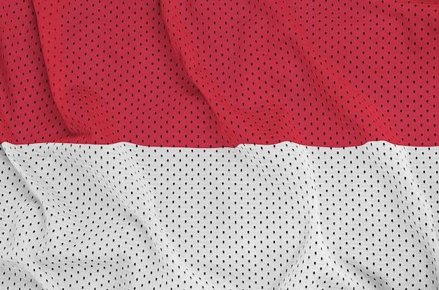 Monaco vlag gedrukt op een polyester nylon gaas