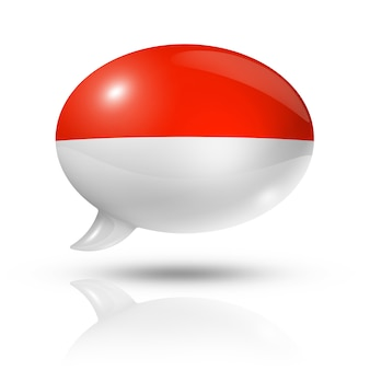 Monaco vlag tekstballon