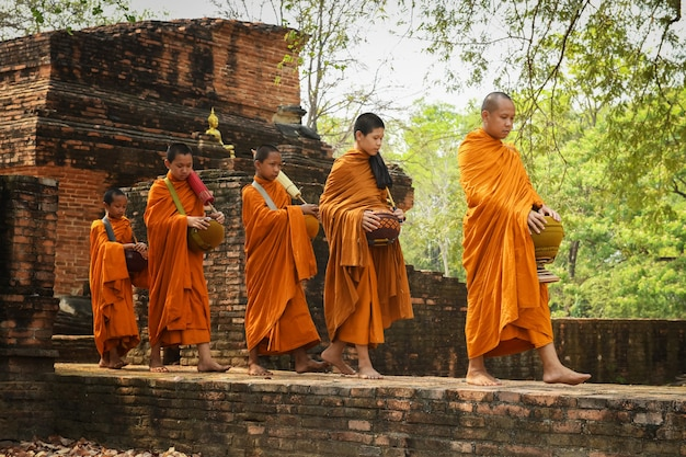 Monnikenaalmoezen zijn de activiteiten van monniken die te maken hebben met het boeddhisme.