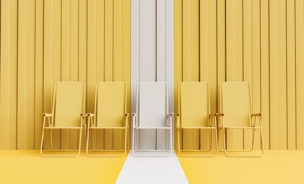 Monochromatische strandstoelen zomer achtergrond
