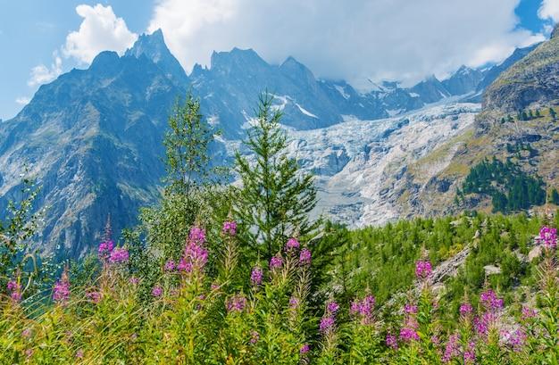 Mont blanc massieve landschap