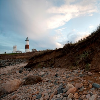 Montauk point light house in the hamptons