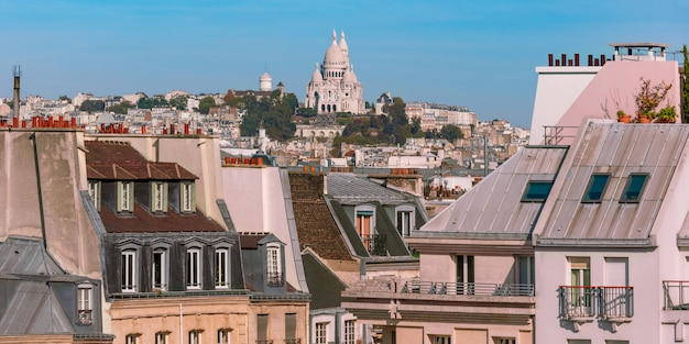 Montmartre in parijs, frankrijk