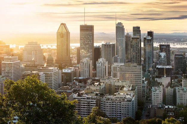 Montreal skyline van mont royal