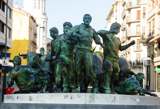 Monument van encierro. pamplona