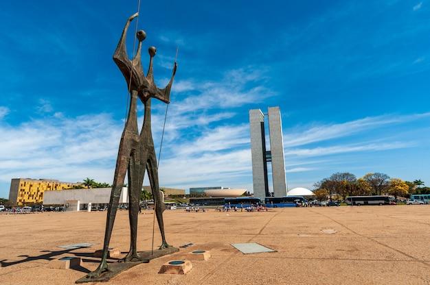 Monument voor candangos brasilia df brazil op 14 augustus 2008