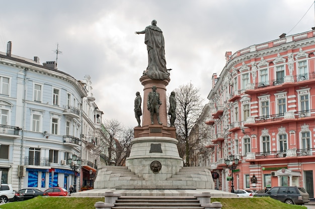 Monument voor keizerin catherine. odessa, oekraïne