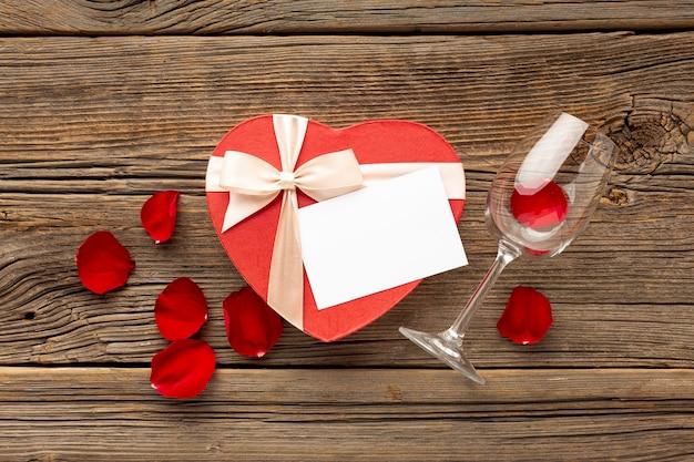 Mooi assortiment voor valentijnsdag diner
