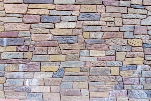 Mooi bakstenen muurpatroon, de grijze achtergrond van de bakstenen muurtextuur grunge