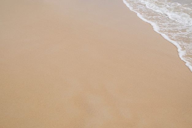 Mooi en schoon strand. copyspace.