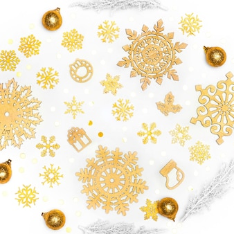 Mooi gouden kerstmisconcept