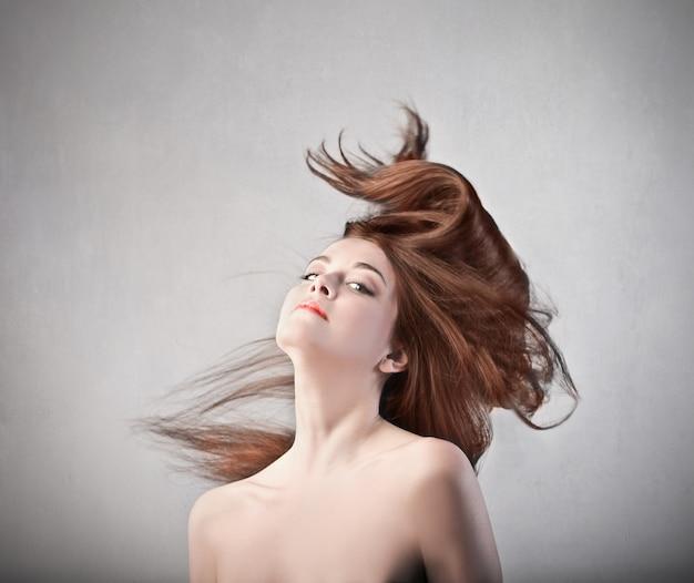 Mooi haar van een mooie vrouw