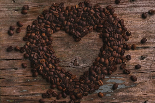 Mooi hart van koffiebonen