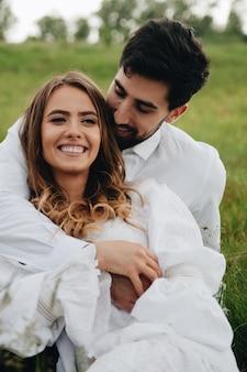 Mooi jong verliefd paar