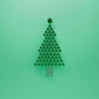 Mooi kerstconcept met kerstballen
