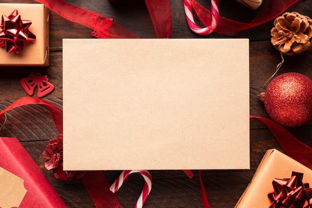 Mooi kerstmisconcept met exemplaarruimte