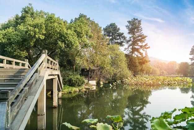 Mooi landschap en landschap in het westenmeer, hangzhou