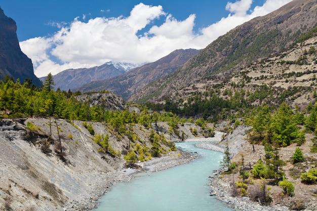 Mooi landschap in de himalaya