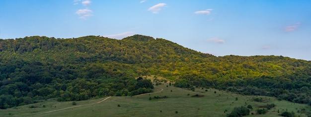 Mooi landschap in de middag in september