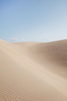 Mooi landschap van een woestijn onder de heldere hemel