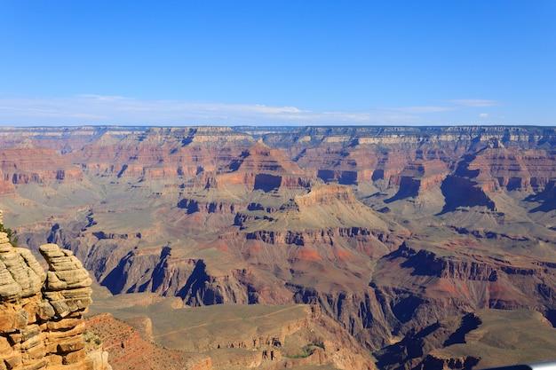 Mooi landschap van grand canyon national park, arizona. panorama van de vs. geologische formaties