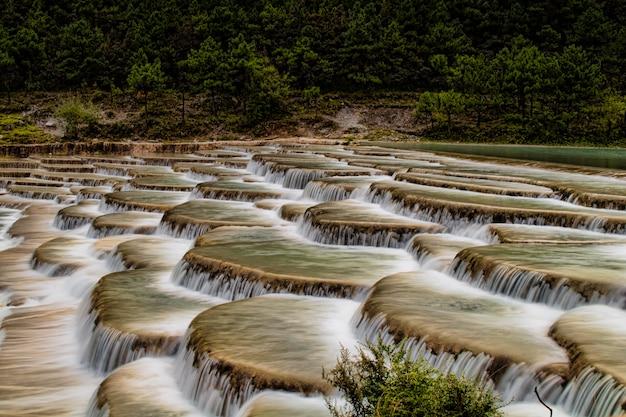 Mooi landschap van watervallen