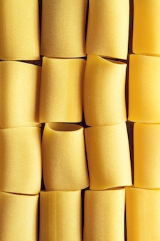 Mooi lekker kleurrijk patroon van italiaanse pasta. bovenaanzicht. abstract. voedselconcept.
