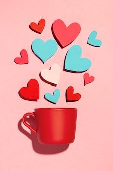 Mooi liefdesassortiment op roze