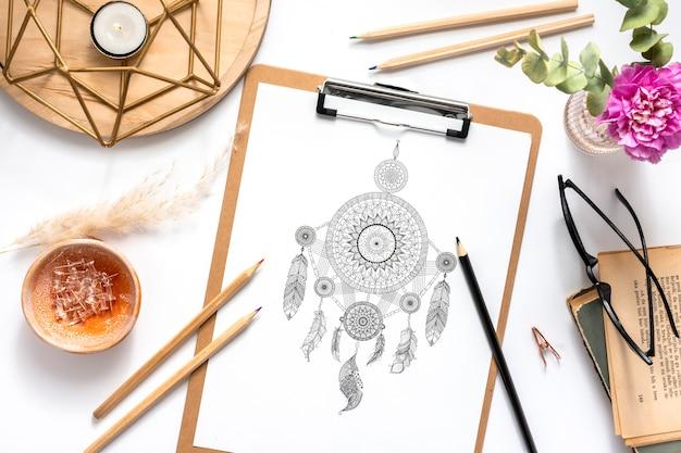 Mooi mandala ontwerpconcept