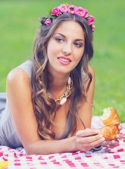 Mooi meisje in park