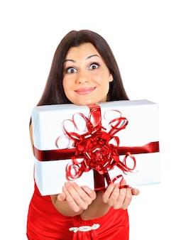 Mooi meisje met cadeaus