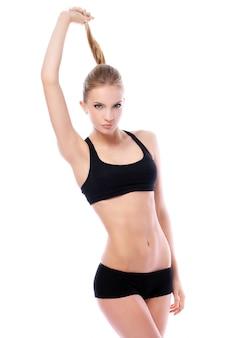 Mooi meisje met fit lichaam