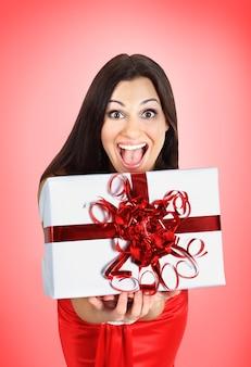 Mooi meisje met geschenken