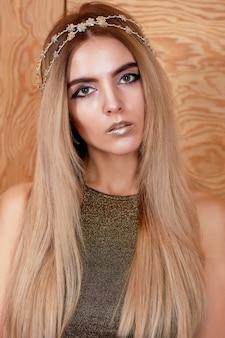 Mooi meisje model mode portret
