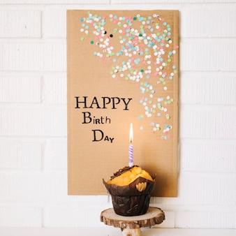 Mooi poster dat Gelukkige verjaardag zegt