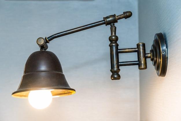 Mooi vintage licht interieur van de lampdecoratie