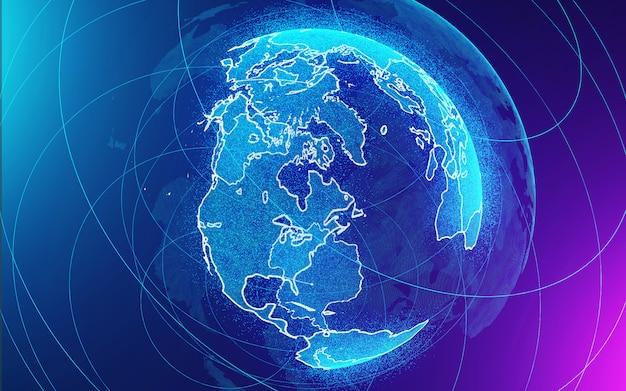 Mooie abstracte aarde op blauw en paars