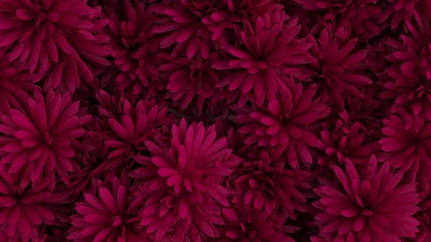 Mooie achtergrond met bloemen 3d illustratie weergave