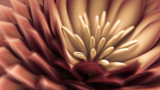 Mooie achtergrond met bloemen. 3d-weergave.