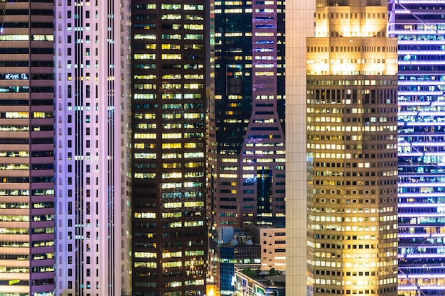 Mooie architectuur de bouw buitenkant van de stad van singapore