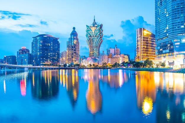 Mooie architectuur de bouwcityscape in macao