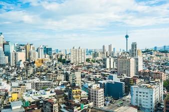 Mooie architectuur de bouwcityscape van de stad van Macao