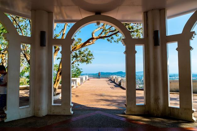 Mooie architectuur op rang hill in phuket