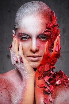 Mooie, artistieke make-up