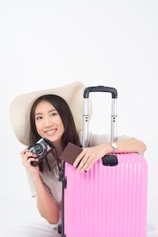 Mooie aziatische vrouwentoerist