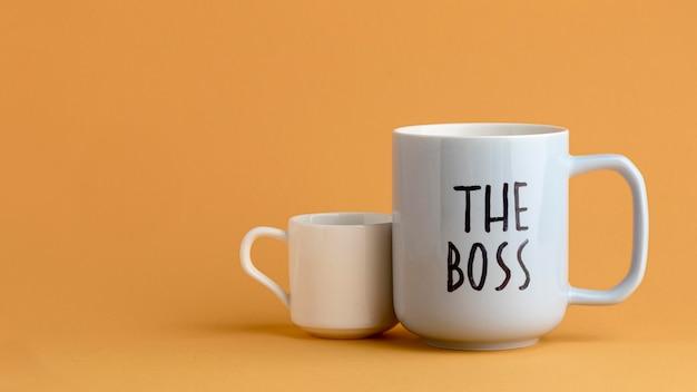 Mooie baas dag concept met cups