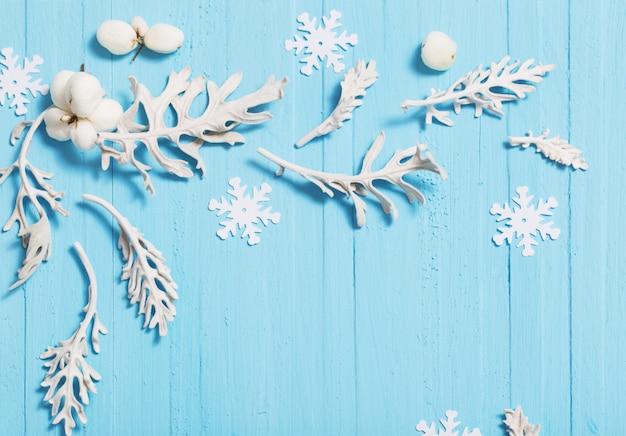 Mooie blauwe kerst achtergrond