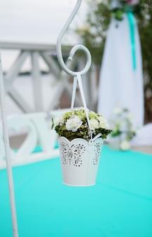Mooie bloem bruiloft decoratie