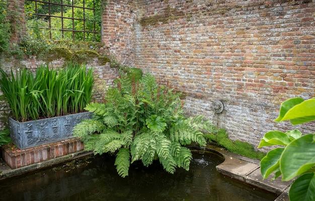 Mooie bloemen, bomen en planten en tuinarchitectuur in sissinghurst caslte gardens
