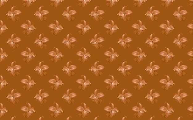 Mooie bloemen lelies. naadloze patroon van lily bloem bloeien. bloemen natuurlijke achtergrond.